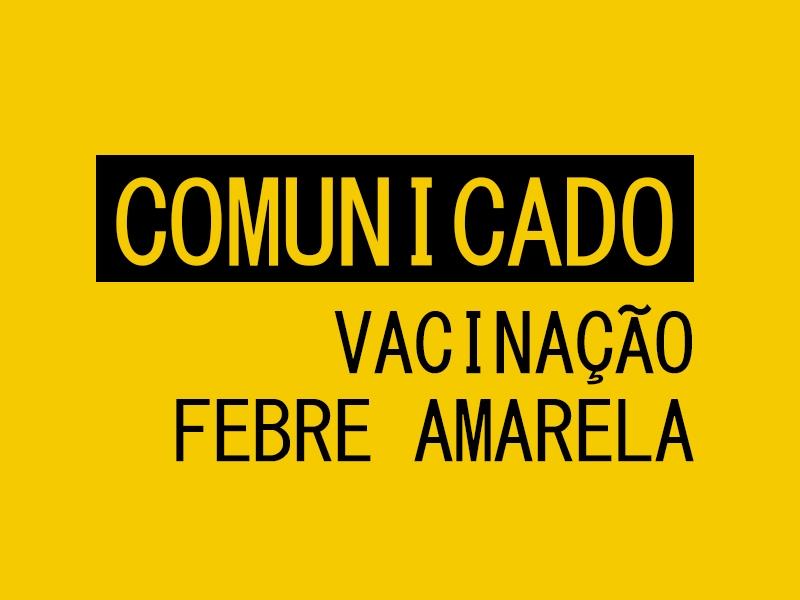 Vargem Alta fará mutirão para vacinação contra a Febre Amarela neste sábado